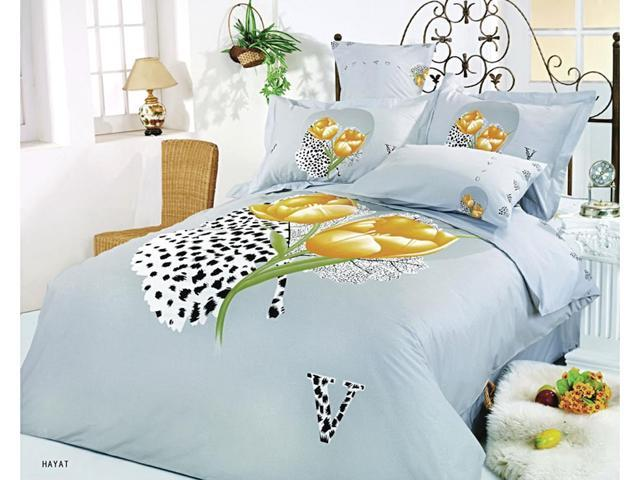 Le Vele Home Indoor Full Queen Bed Modern Bedding Floral Duvet Cover Set LE59Q