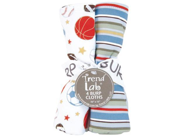 Trend Lab Bouquet 4 Pack Infant Newborn Boys Girls Little Mvp Burp Cloth Towel Baby Shower Gift
