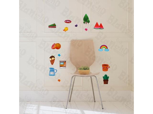 Home Kids Imaginative Art Go Picnic Hemu Wall Decorative Decals Appliques Stickers