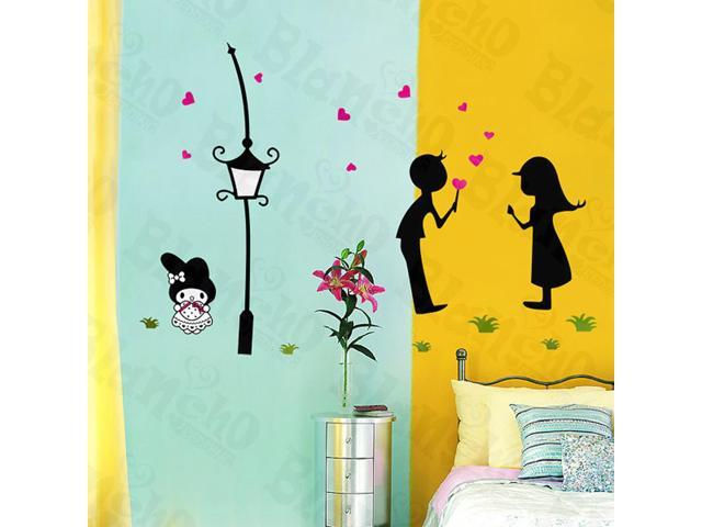 Home Kids Imaginative Art Kissing - Large Wall Decorative Decals Appliques Stickers