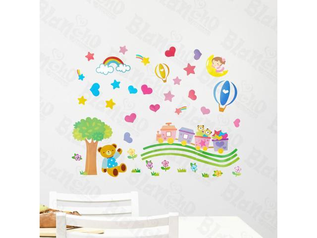 Home Kids Imaginative Art Lovely Bear - Wall Decorative Decals Appliques Stickers