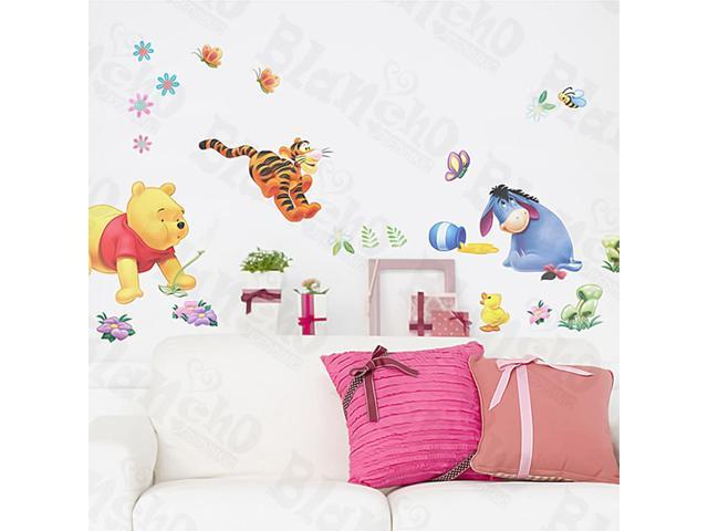 Home Kids Imaginative Art Winnie The Pooh-4 - Medium Wall Decorative Decals Appliques Stickers
