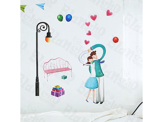 Home Kids Imaginative Art Love Is Mutual - Medium Wall Decorative Decals Appliques Stickers