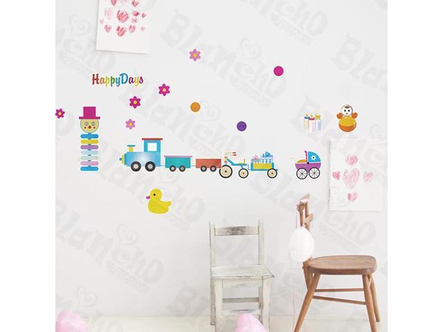 Home Kids Imaginative Art Clown Tour - Wall Decorative Decals Appliques Stickers