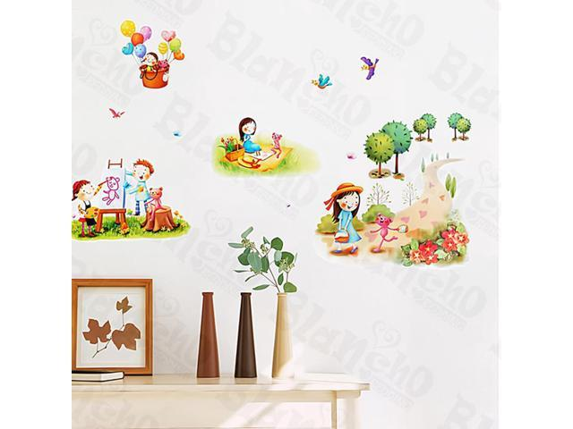Home Kids Imaginative Art Leisure Time-1 - Medium Wall Decorative Decals Appliques Stickers