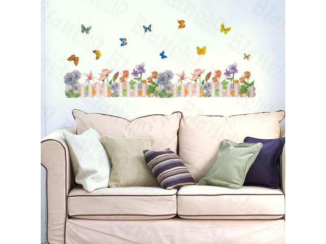 Home Kids Imaginative Art Floral Dream - Large Wall Decorative Decals Appliques Stickers
