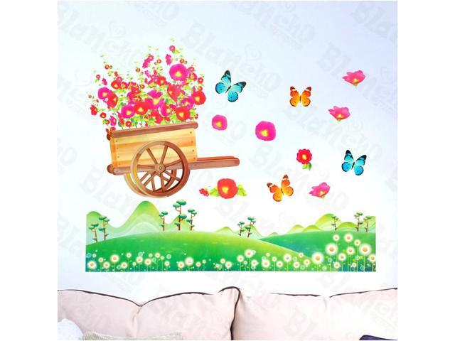 Home Kids Imaginative Art Flowers And Fields - Wall Decorative Decals Appliques Stickers