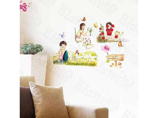 Home Kids Imaginative Art Leisure Time-2 - Medium Wall Decorative Decals Appliques Stickers