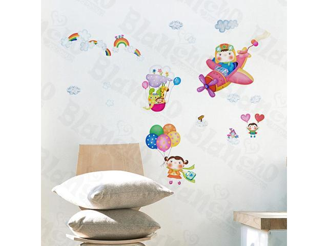 Home Kids Imaginative Art Flying Sky - Wall Decorative Decals Appliques Stickers