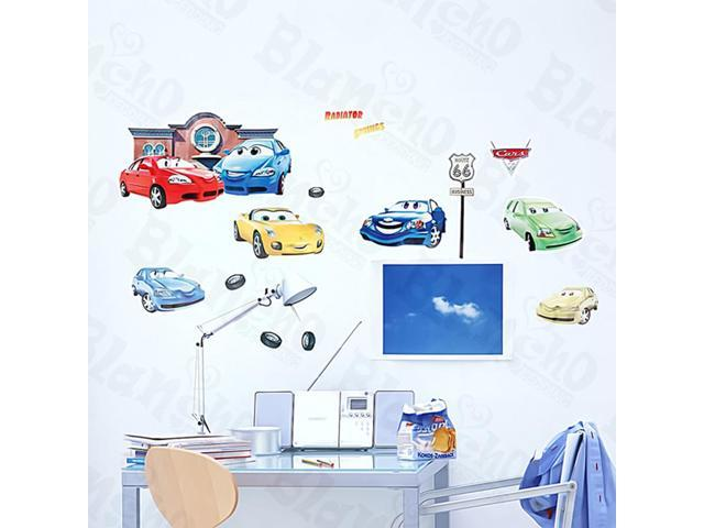 Home Kids Imaginative Art Cars - Medium Wall Decorative Decals Appliques Stickers