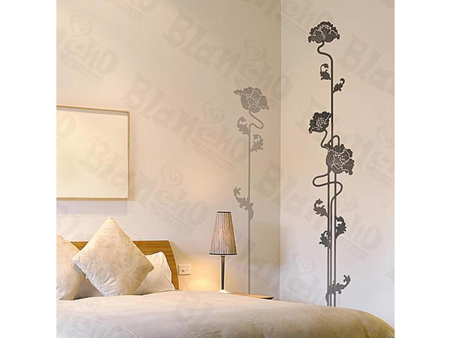 Home Kids Imaginative Art Classic Flower - Large Wall Decorative Decals Appliques Stickers
