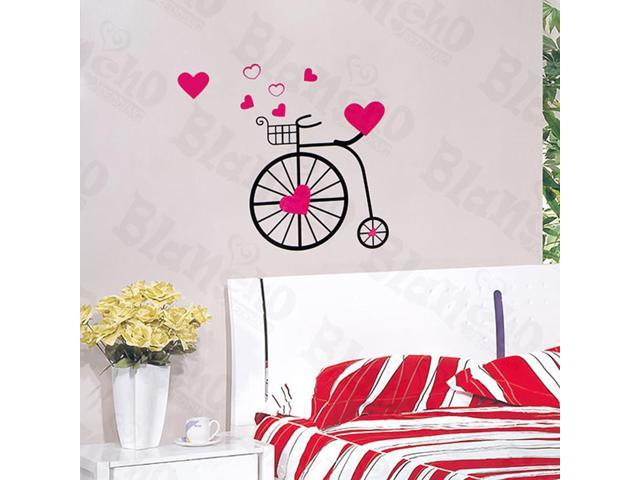 Home Kids Imaginative Art Chic Bicycling M - Wall Decorative Decals Appliques Stickers
