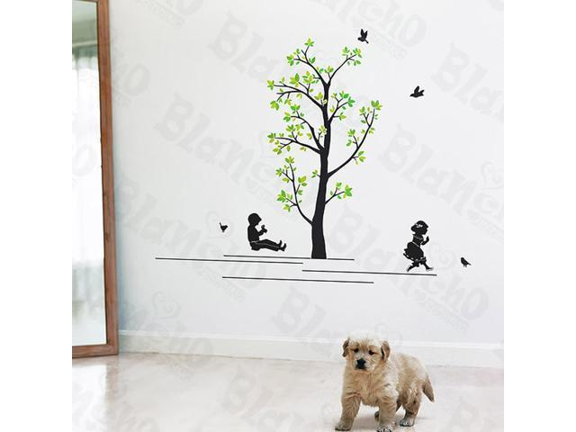 Home Kids Imaginative Art Swing - Wall Decorative Decals Appliques Stickers