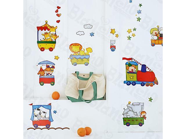 Home Kids Imaginative Art Chu Chu Train-1 - Medium Wall Decorative Decals Appliques Stickers