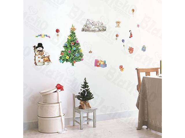 Home Kids Imaginative Art Christmas-1 - Medium Wall Decorative Decals Appliques Stickers