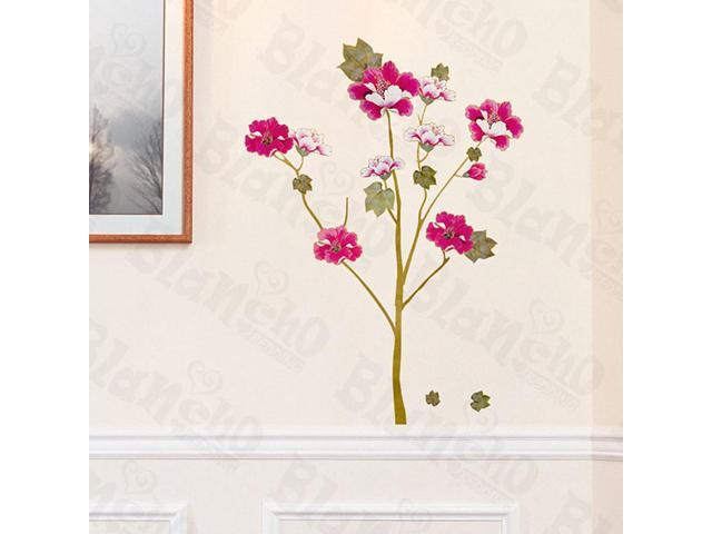 Home Kids Imaginative Art Vivid Flowers - Large Wall Decorative Decals Appliques Stickers