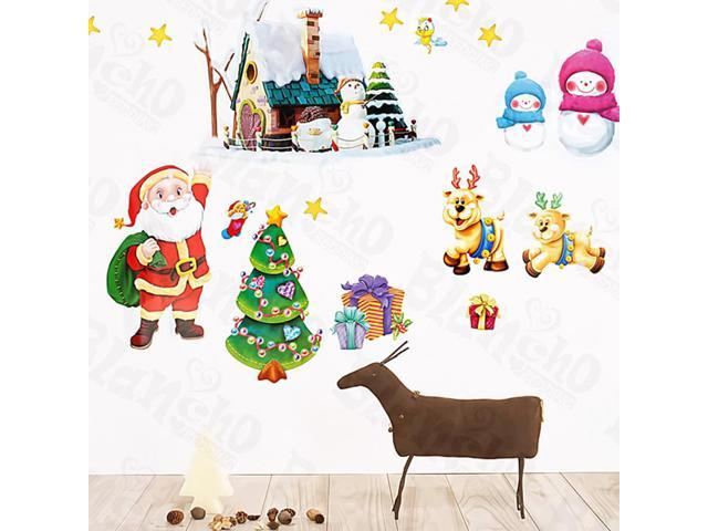 Home Kids Imaginative Art Christmas-2 - Medium Wall Decorative Decals Appliques Stickers
