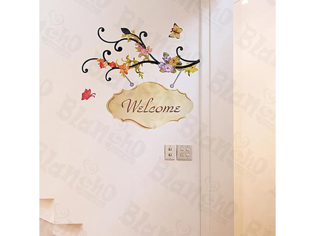 Home Kids Imaginative Art Welcome - Large Wall Decorative Decals Appliques Stickers