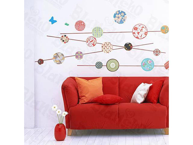 Home Kids Imaginative Art Kaleidoscope - Large Wall Decorative Decals Appliques Stickers