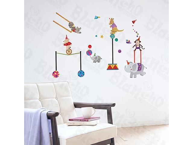 Home Kids Imaginative Art Circus - Large Wall Decorative Decals Appliques Stickers