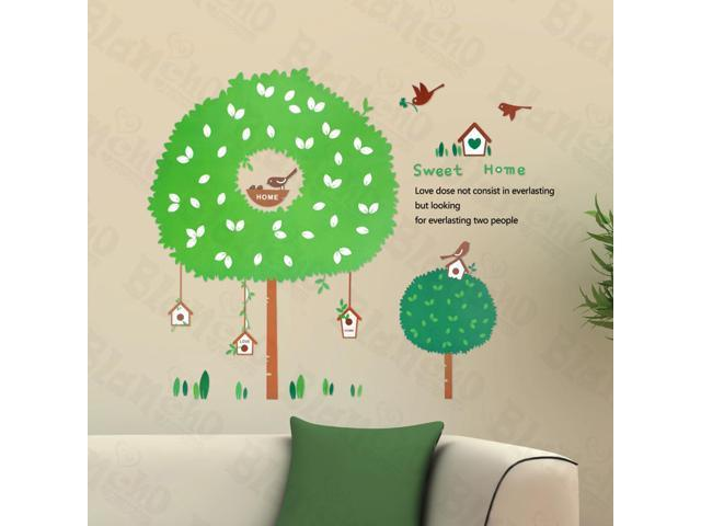 Home Kids Imaginative Art The House Of Bird - Large Wall Decorative Decals Appliques Stickers