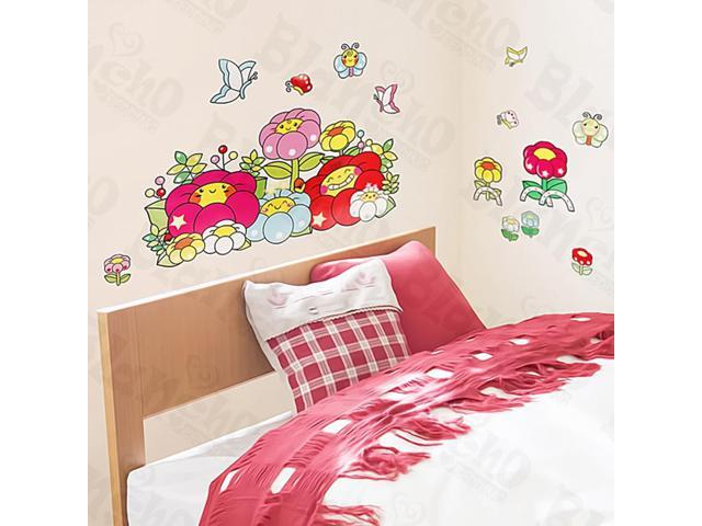 Home Kids Imaginative Art Chubby Flower - Medium Wall Decorative Decals Appliques Stickers