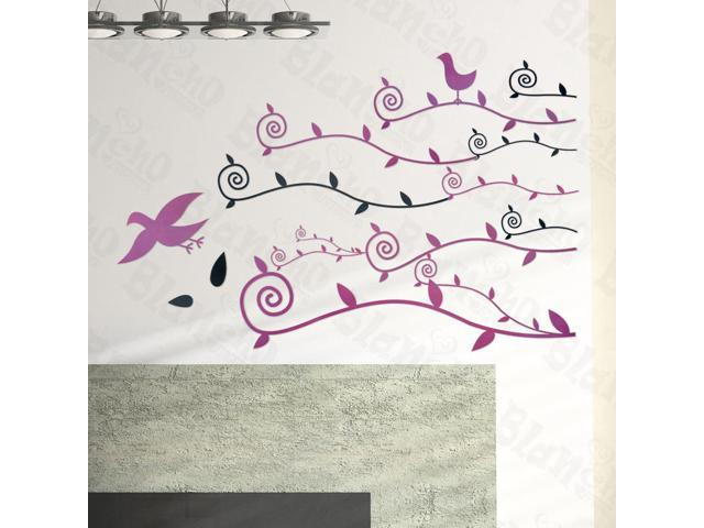 Home Kids Imaginative Art Willow And Swallow - Large Wall Decorative Decals Appliques Stickers