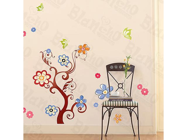 Home Kids Imaginative Art Flower Tree - Large Wall Decorative Decals Appliques Stickers