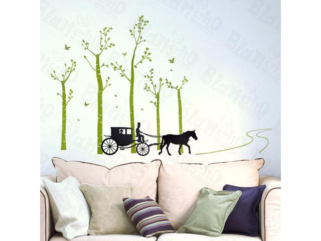 Home Kids Imaginative Art Country Road - Large Wall Decorative Decals Appliques Stickers