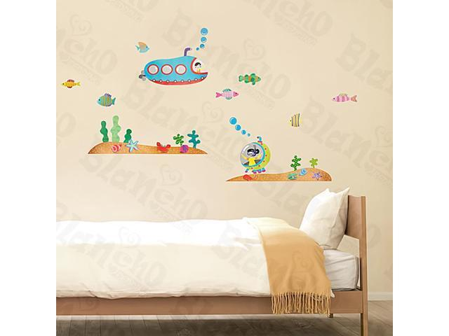 Home Kids Imaginative Art Submarine - Large Wall Decorative Decals Appliques Stickers