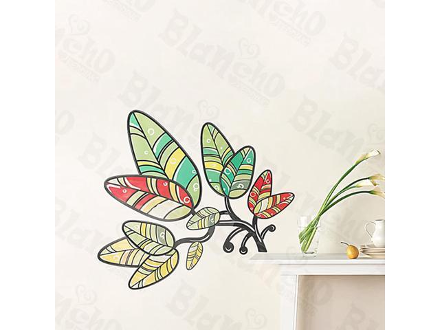 Home Kids Imaginative Art Florid Leaf - Medium Wall Decorative Decals Appliques Stickers