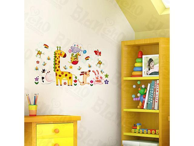 Home Kids Imaginative Art Fun Zoo - Medium Wall Decorative Decals Appliques Stickers