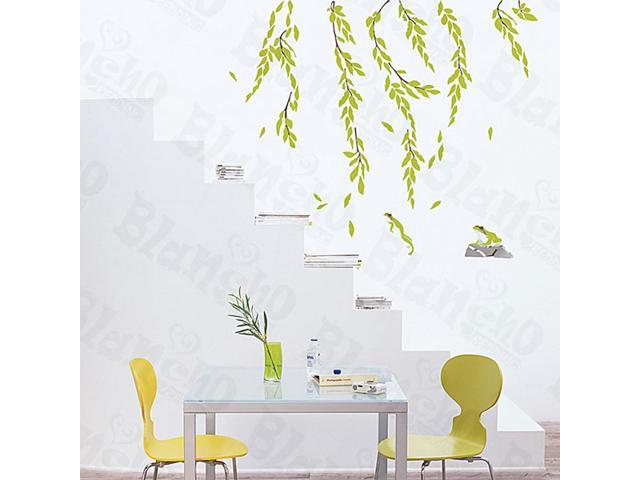 Home Kids Imaginative Art Willow Tree - Large Wall Decorative Decals Appliques Stickers