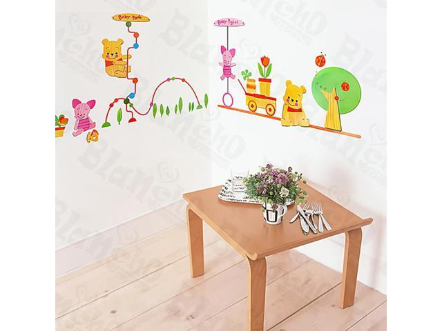 Home Kids Imaginative Art Winnie The Pooh-5 - Large Wall Decorative Decals Appliques Stickers