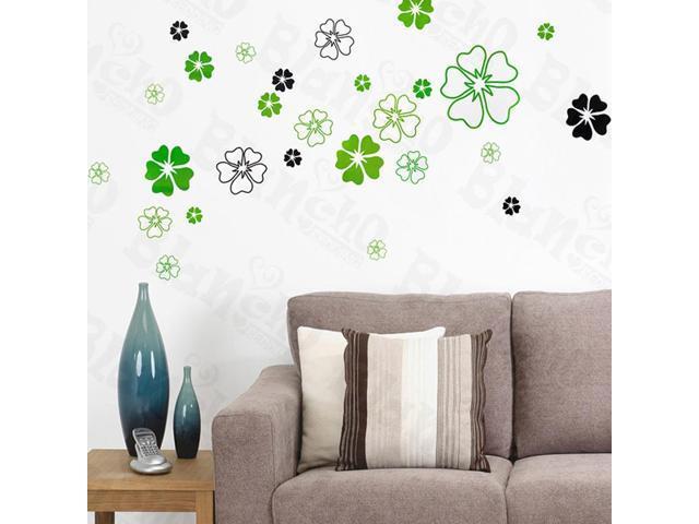 Home Kids Imaginative Art Green Petals - Large Wall Decorative Decals Appliques Stickers