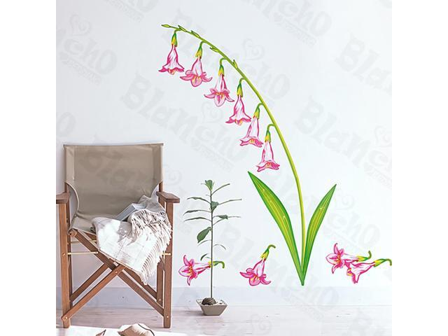 Home Kids Imaginative Art Pink Lily Valley - Medium Wall Decorative Decals Appliques Stickers