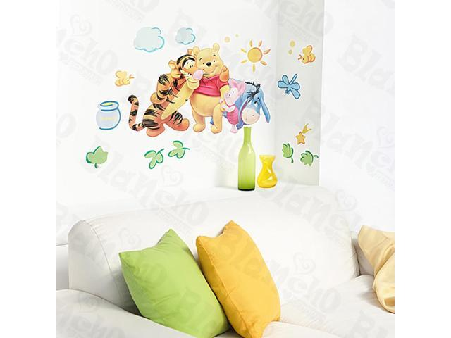 Home Kids Imaginative Art Winnie The Pooh-6 - Large Wall Decorative Decals Appliques Stickers