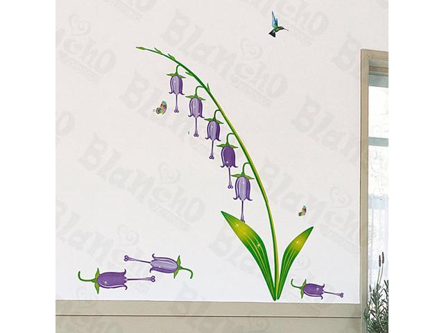 Home Kids Imaginative Art Purple Lily Valley - Medium Wall Decorative Decals Appliques Stickers