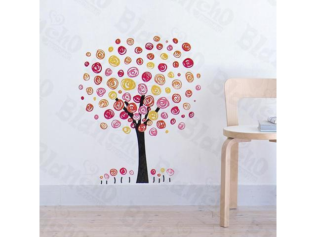 Home Kids Imaginative Art Colorful Tree - Wall Decorative Decals Appliques Stickers