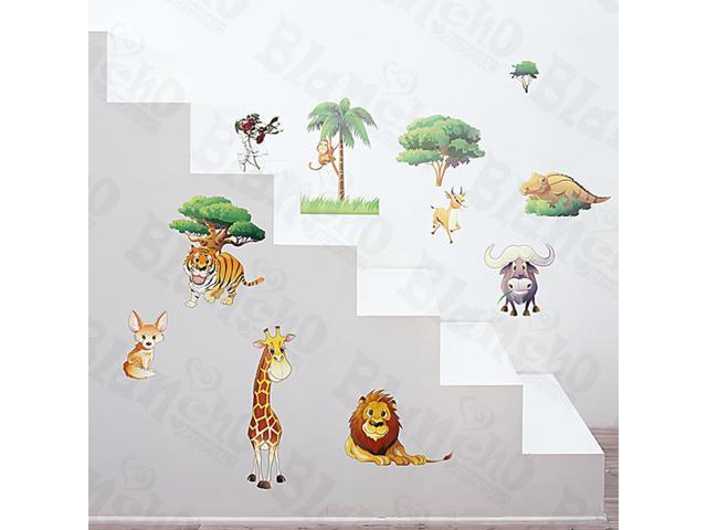 Home Kids Imaginative Art African Field - Medium Wall Decorative Decals Appliques Stickers