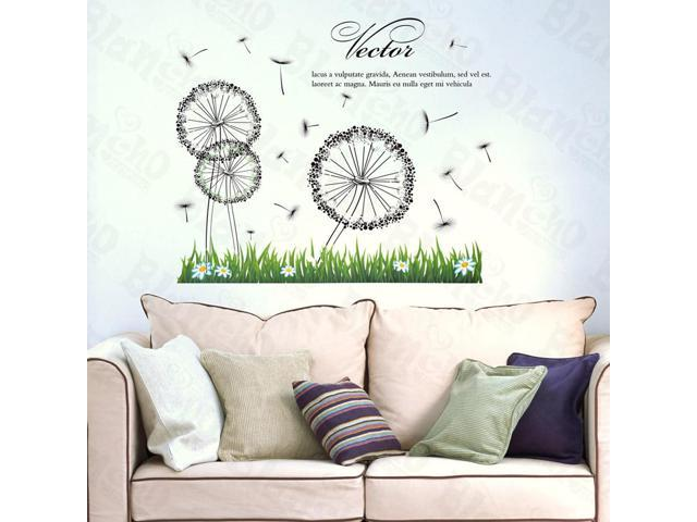 Home Kids Imaginative Art Dandelion On The Field - Large Wall Decorative Decals Appliques Stickers