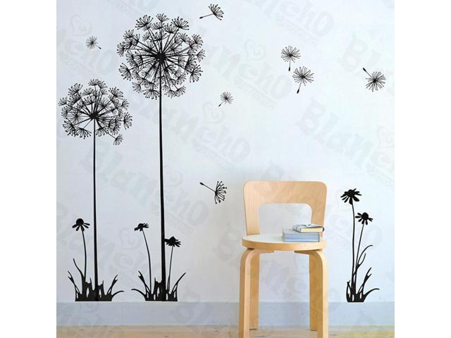 Home Kids Imaginative Art Flying Dandelion - Large Wall Decorative Decals Appliques Stickers