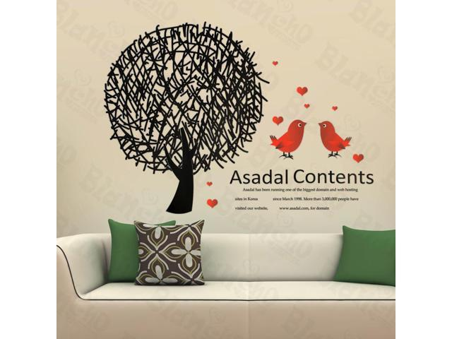 Home Kids Imaginative Art Birds In Love - Large Wall Decorative Decals Appliques Stickers