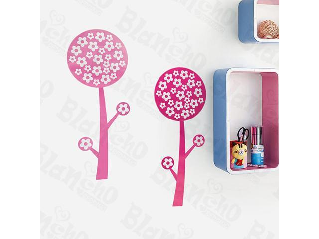 Home Kids Imaginative Art Pink Trees - Wall Decorative Decals Appliques Stickers