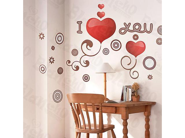 Home Kids Imaginative Art I-Love-U - Large Wall Decorative Decals Appliques Stickers