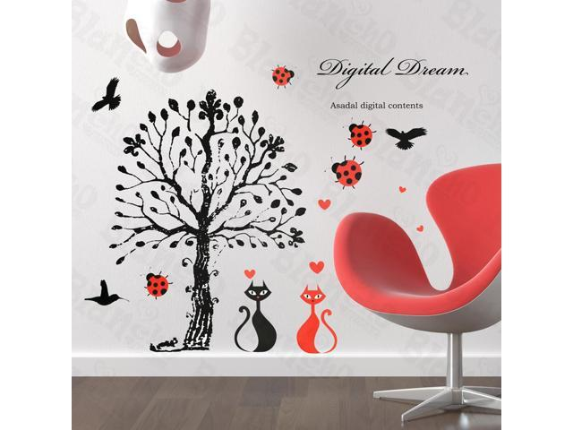 Home Kids Imaginative Art Love Under The Tree - Large Wall Decorative Decals Appliques Stickers
