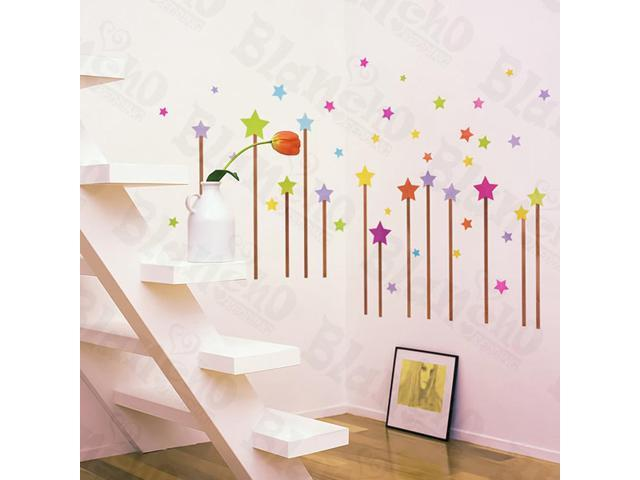 Home Kids Imaginative Art Star Sky - Wall Decorative Decals Appliques Stickers