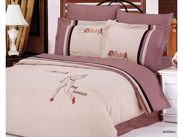 Le Vele Home Full Queen Bed Modern Bedding Sports Duvet Cover Set LE132Q