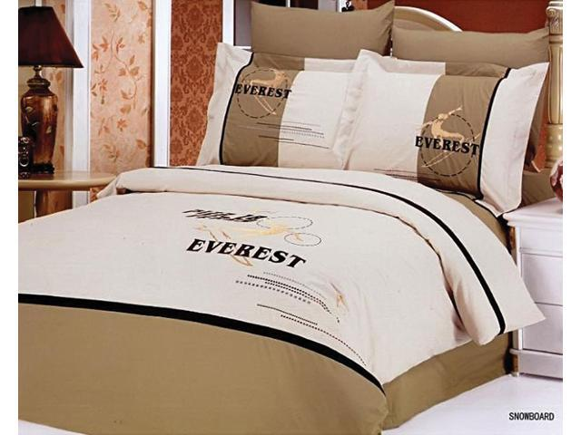 Le Vele Home Full Queen Bed Modern Bedding Sports Duvet Cover Set LE133Q