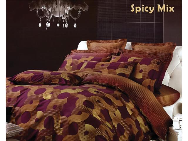 Dolce Mela Home Indoor King Bed Modern Luxury Bedding Duvet Cover Set DM451K